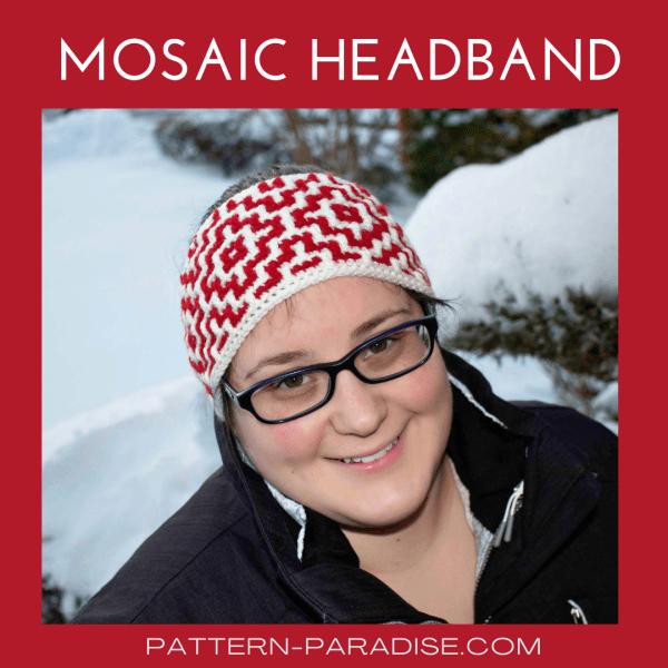 Free Crochet Pattern: Mosaic Headband