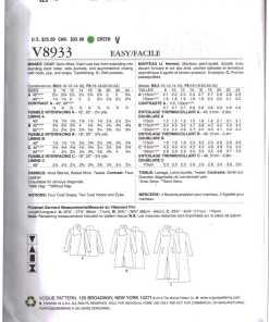 Vogue V8933 1