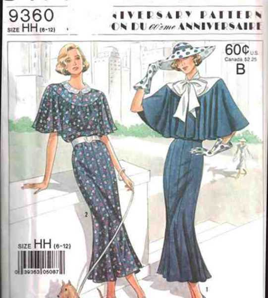 Simplicity 9360 Dress Size: HH 6-12 Used Sewing Pattern
