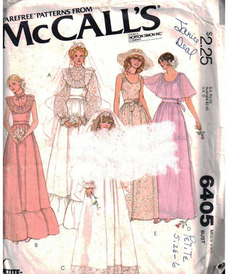 McCall\'s 6405 Bridal Dress, Bridesmaid Dress Size: 10 Used Sewing ...