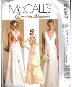 McCall\'s M5047 Lined Dress, Wedding Dress Size: AAX 4-6-8-10 Uncut ...