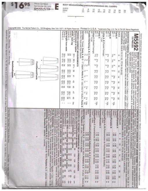McCalls M5592 MN 1