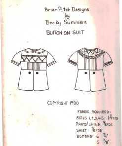 Briar Patch Designs Button on Suit