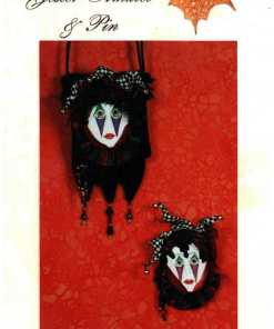 Letas Art Dolls Jester Amulet Pin
