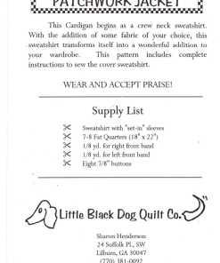 Little Black Dog Quilt Co Patchwork Jacket 1