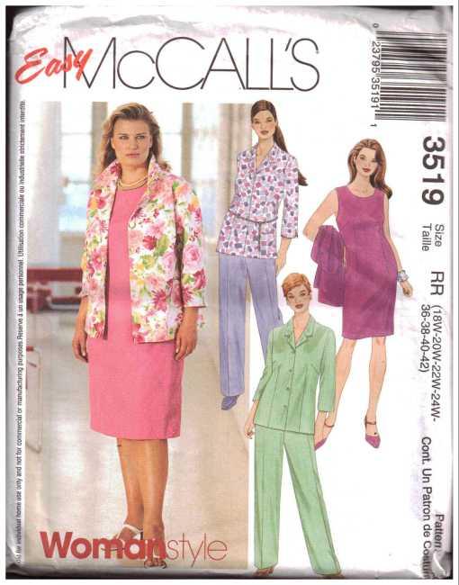 McCalls 3519 J
