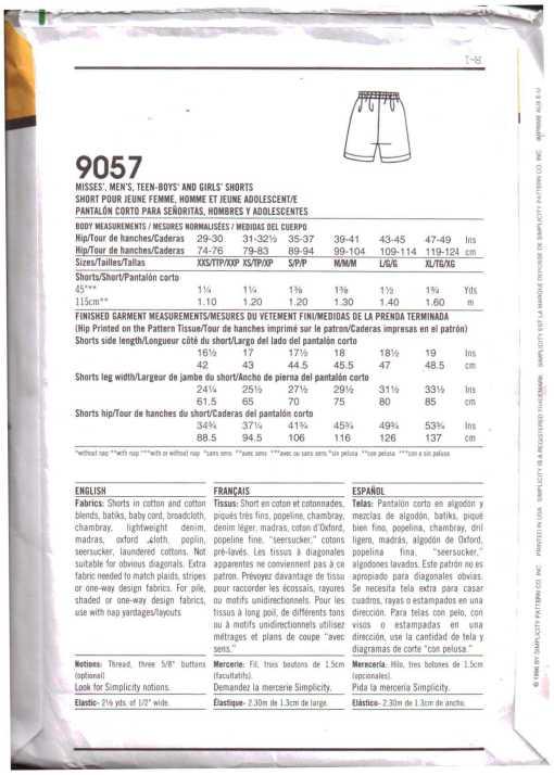 Simplicity 9057 J 1