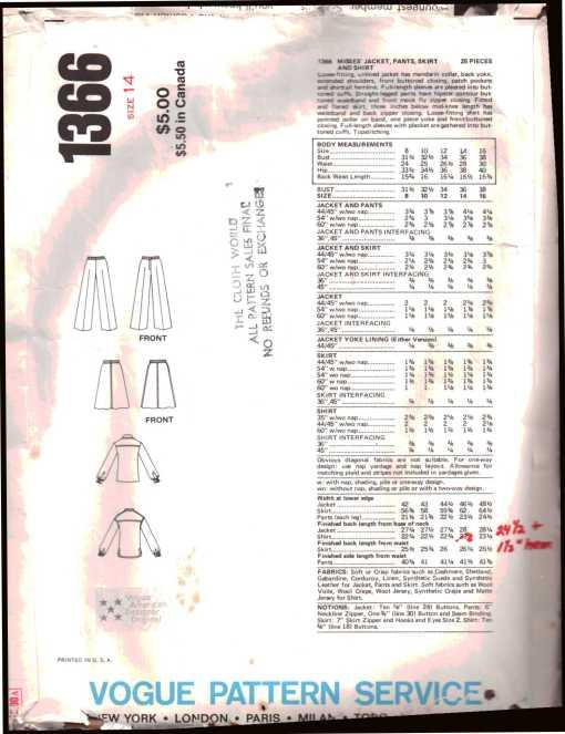 Vogue 1366 J 1