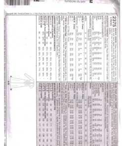 McCalls 2375 J 1