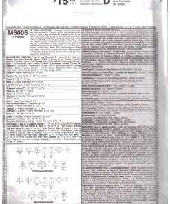 McCalls M6006 J 1