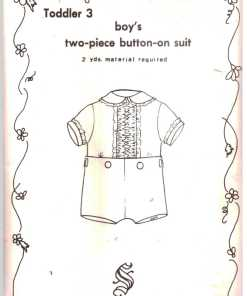 Susanne Sheier Smoked Boys Two Piece button on suit