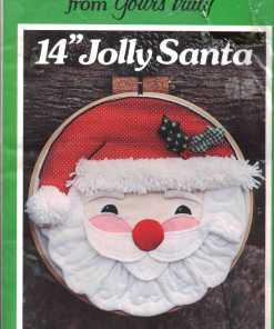 Yours Truly Applique Christmas Ornament Jolly Santa