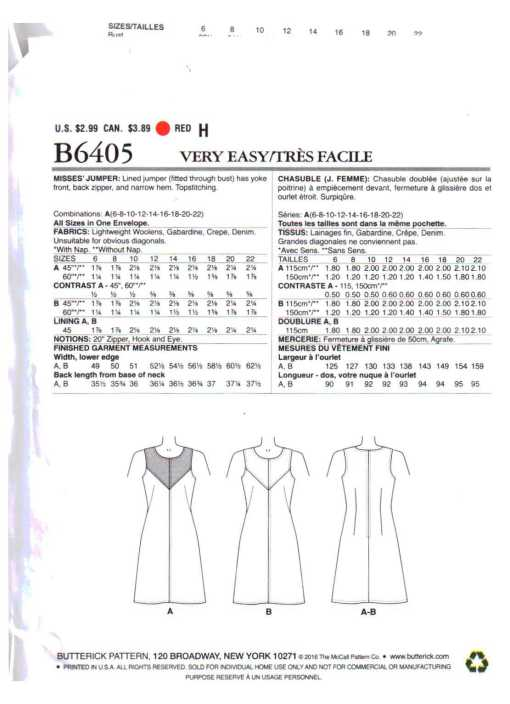 Butterick B6405 O 1