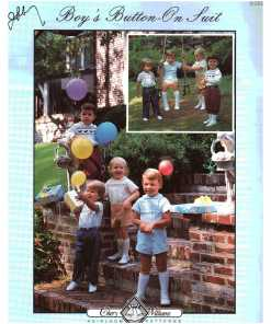 Cheryl Williams Pattern Boys Button On Suit O