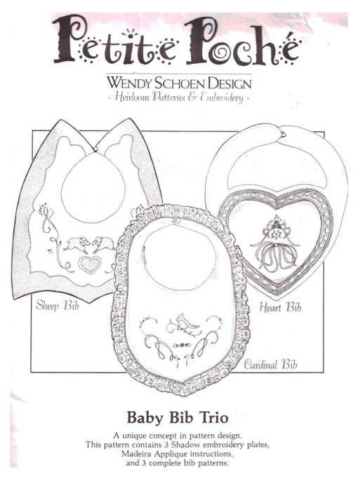 Petite Poche Baby Bib Trio O