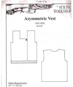 The Sewing Workshop Asymmetric Vest O