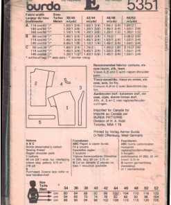 Burda 5351 N 1