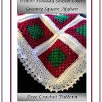 Winter Holiday Season Colors Granny Square Afghan Pattern Princess