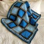 Granny Square Blue Agate Crochet Blanket Pattern Princess