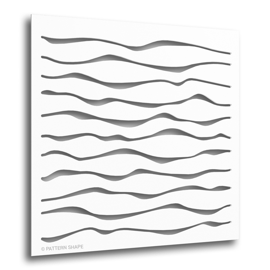 © PATTERN-SHAPE | PATTERN PANEL | WAVE | WHITE