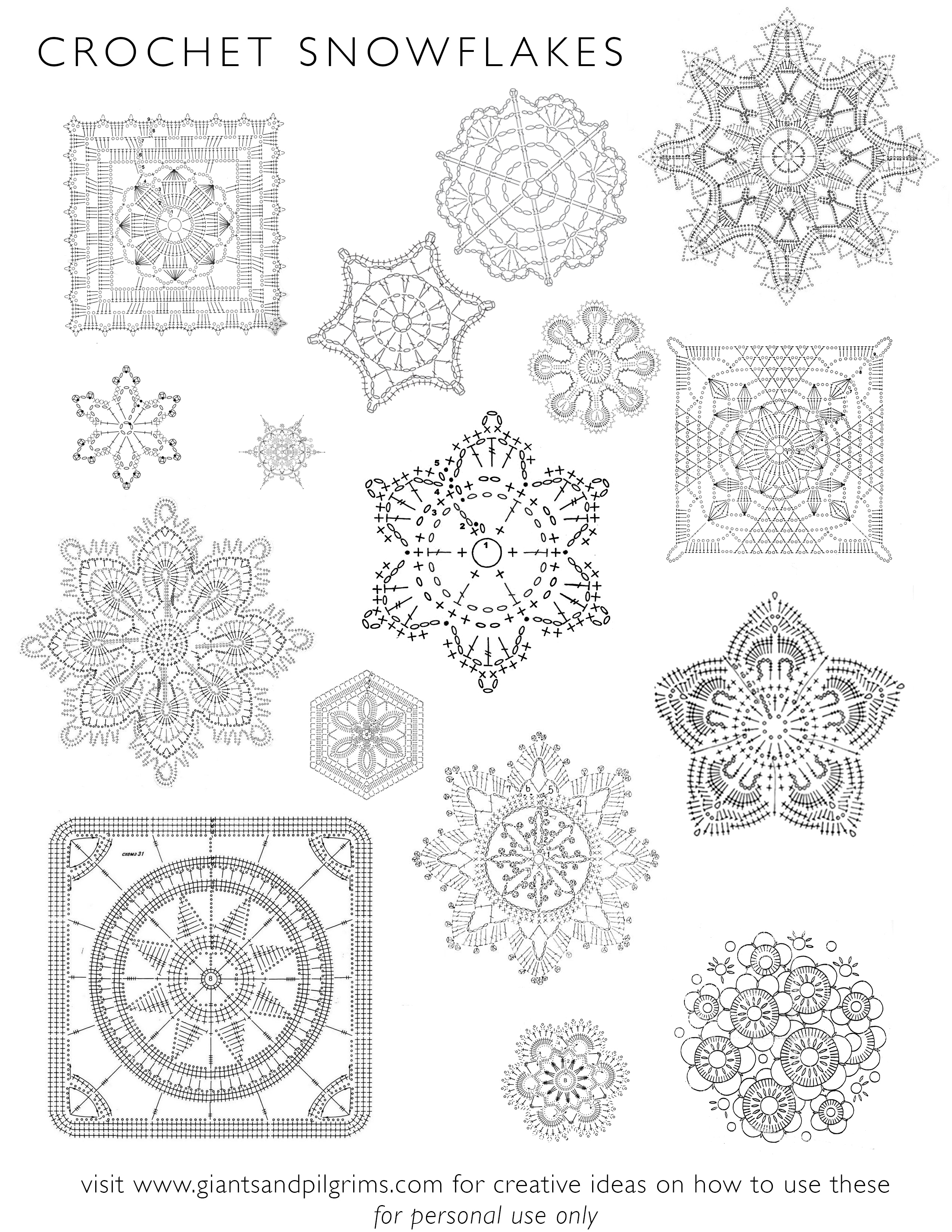 How To Crochet Snowflake Patterns