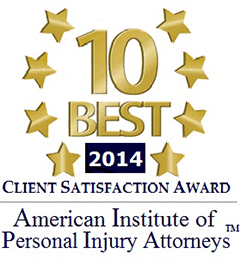 Patterson Legal Group is proud to announce that Gary Patterson has received a 10 Best Client Satisfaction Award from the American Institute of Personal Injury Attorneys (AIOPIA).