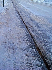 Sidewalk are commonly the spot of snow and ice slip-and-fall accidents.