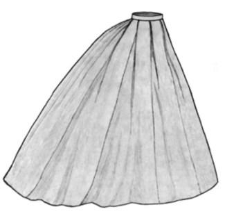 Elliptic skirt