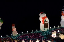 snowmen on the roof