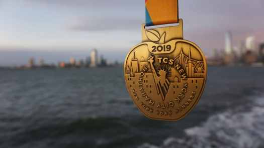 Die Medaille des New York City Marathon