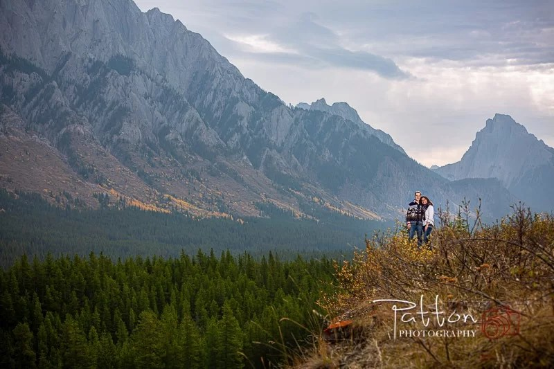 Engagement session in Kananaskis in the mountains