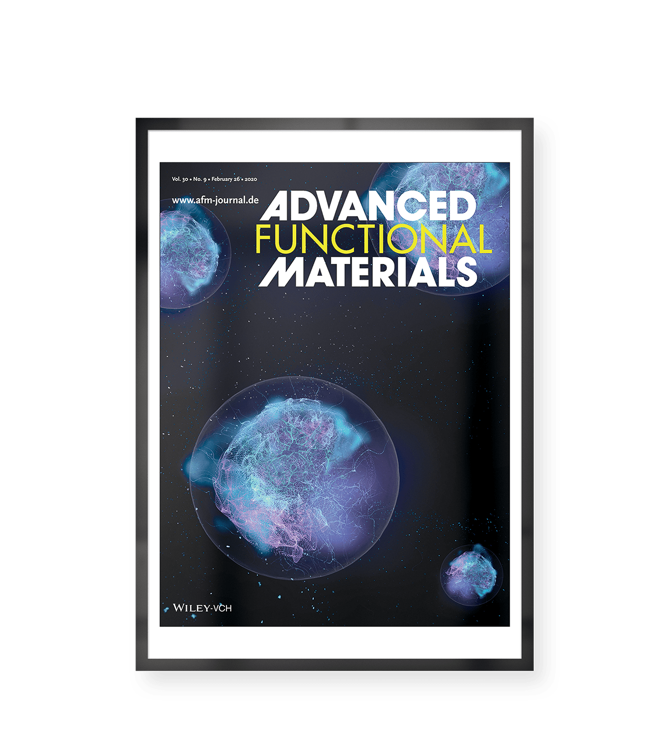 Cover image for Advanced Functional Materials representing the research of Dr. Richard Williams et al: