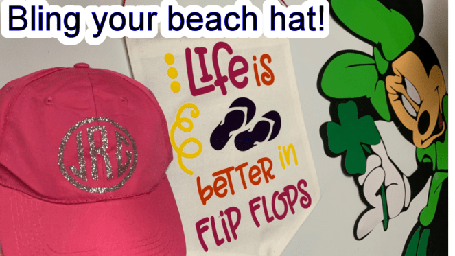 Bling your hat with Silhouette Cameo or Cricut