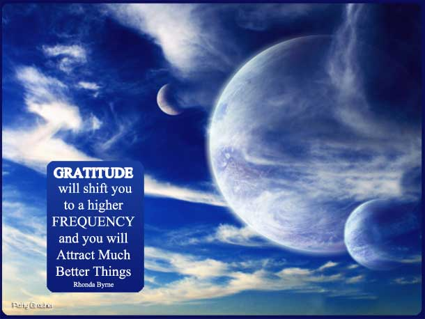 Motivational quote about gratitude