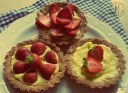 Tartellette integrali con fragole