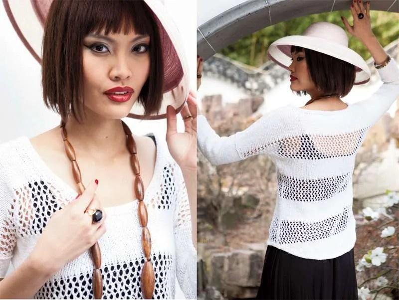 Scoop-Neck Pullover - Vogue Knitting Spring/Summer 2014