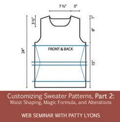 Customizing Sweater Patterns pt 2: Waist Shaping, Magic Formula, and Alterations
