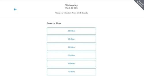 3- Choose time