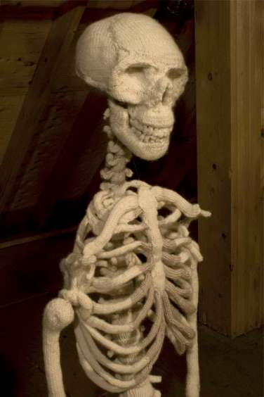 Ben Cuevas Knitted Skeleton