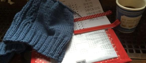 Knitting Designer Blog - Diverging Paths Pullover in progress