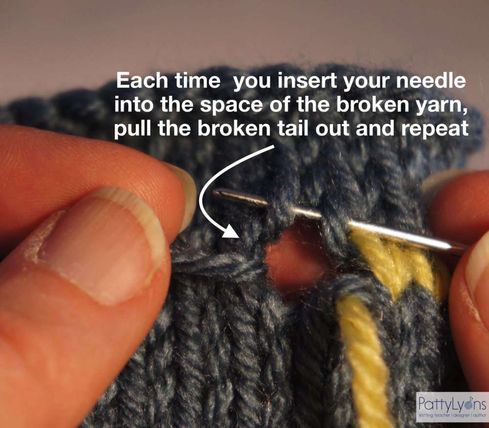 Swiss Darning Repair