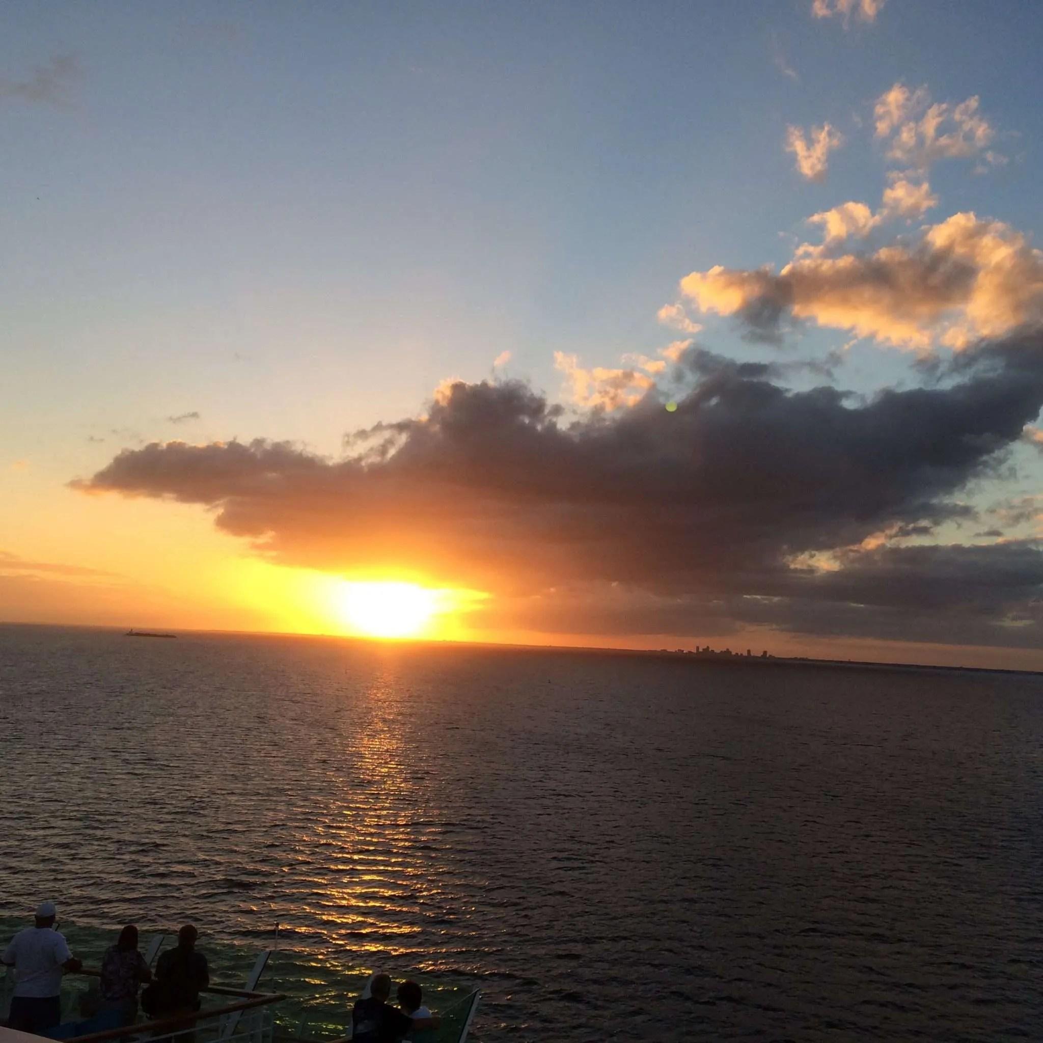The sunset was beautiful!