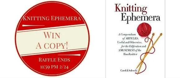Knitting Ephemera Raffle