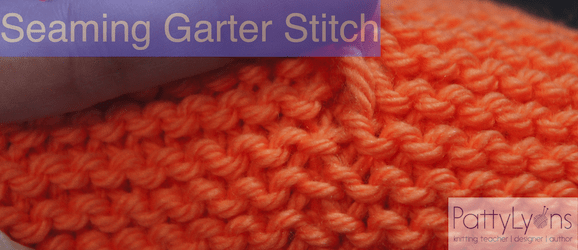 How to Seam Garter Stitch