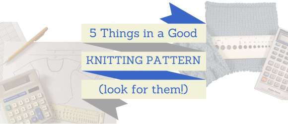 5 Things in a Good Knitting Pattern