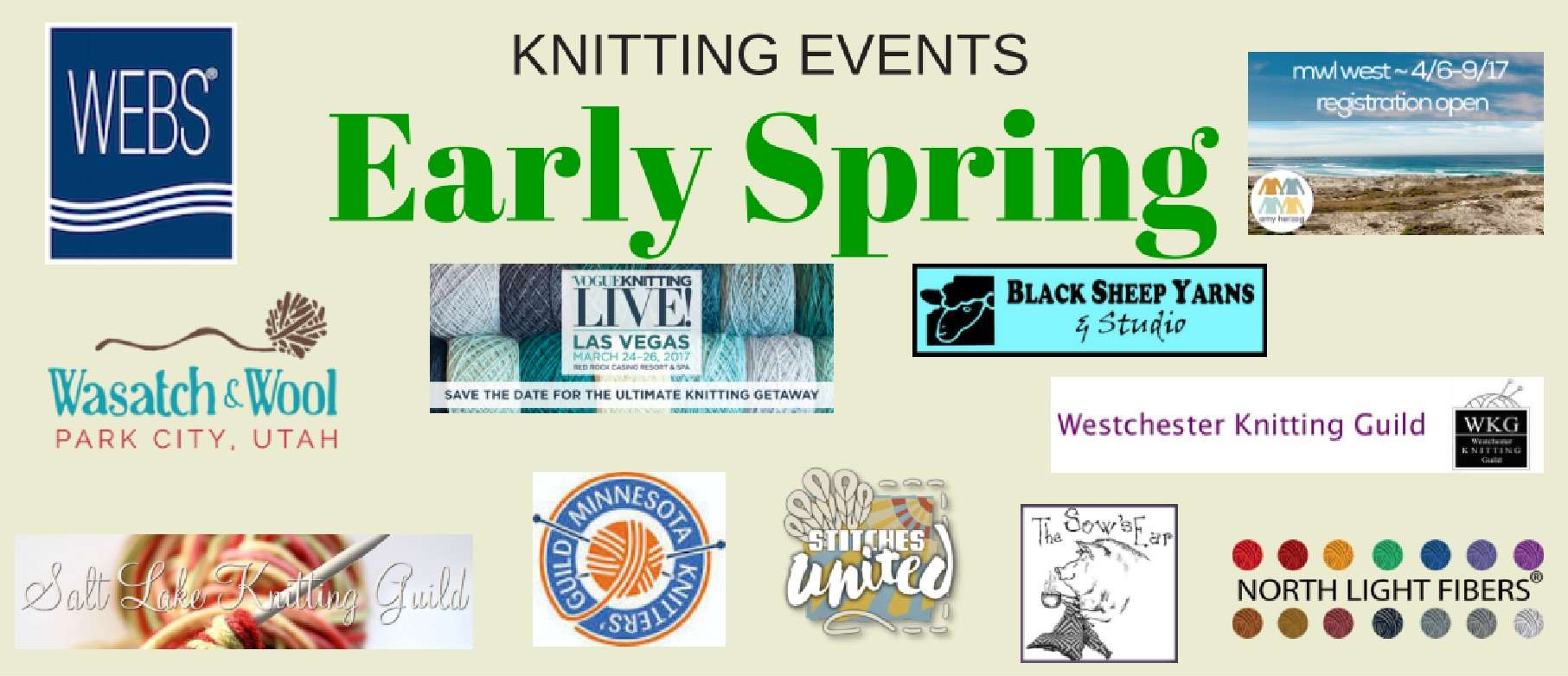 Spring Knitting Events