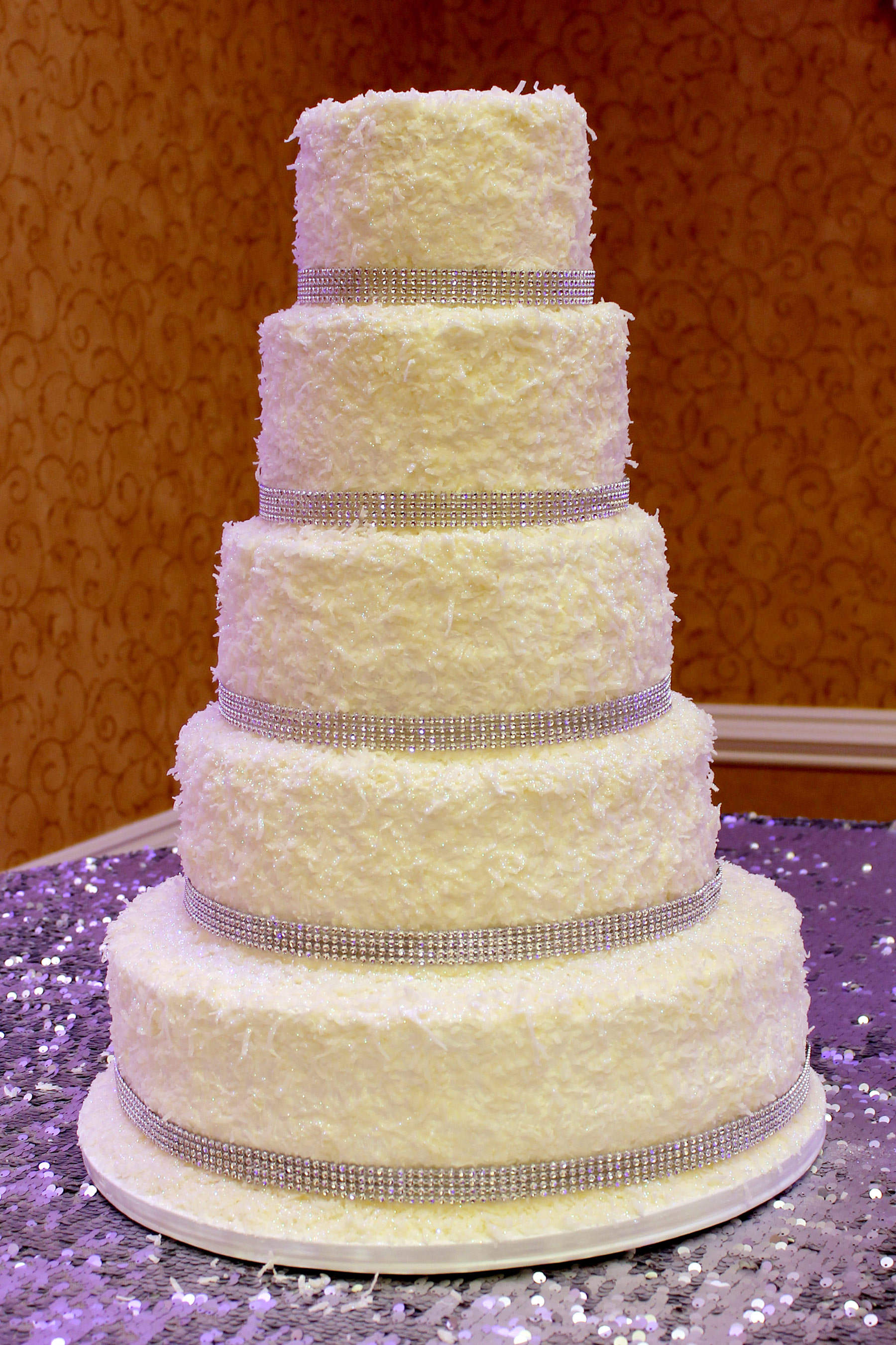 coconut wedding cake Archives   Patty s Cakes and Desserts wedding cake coconut white bling snow