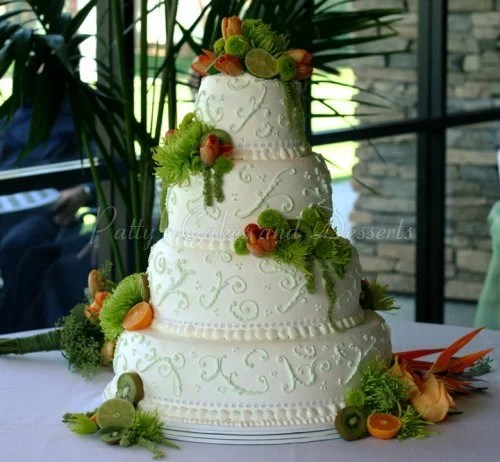4 tier wedding cakes Archives   Patty s Cakes and Desserts 4 tier white wedding cake orange fruit