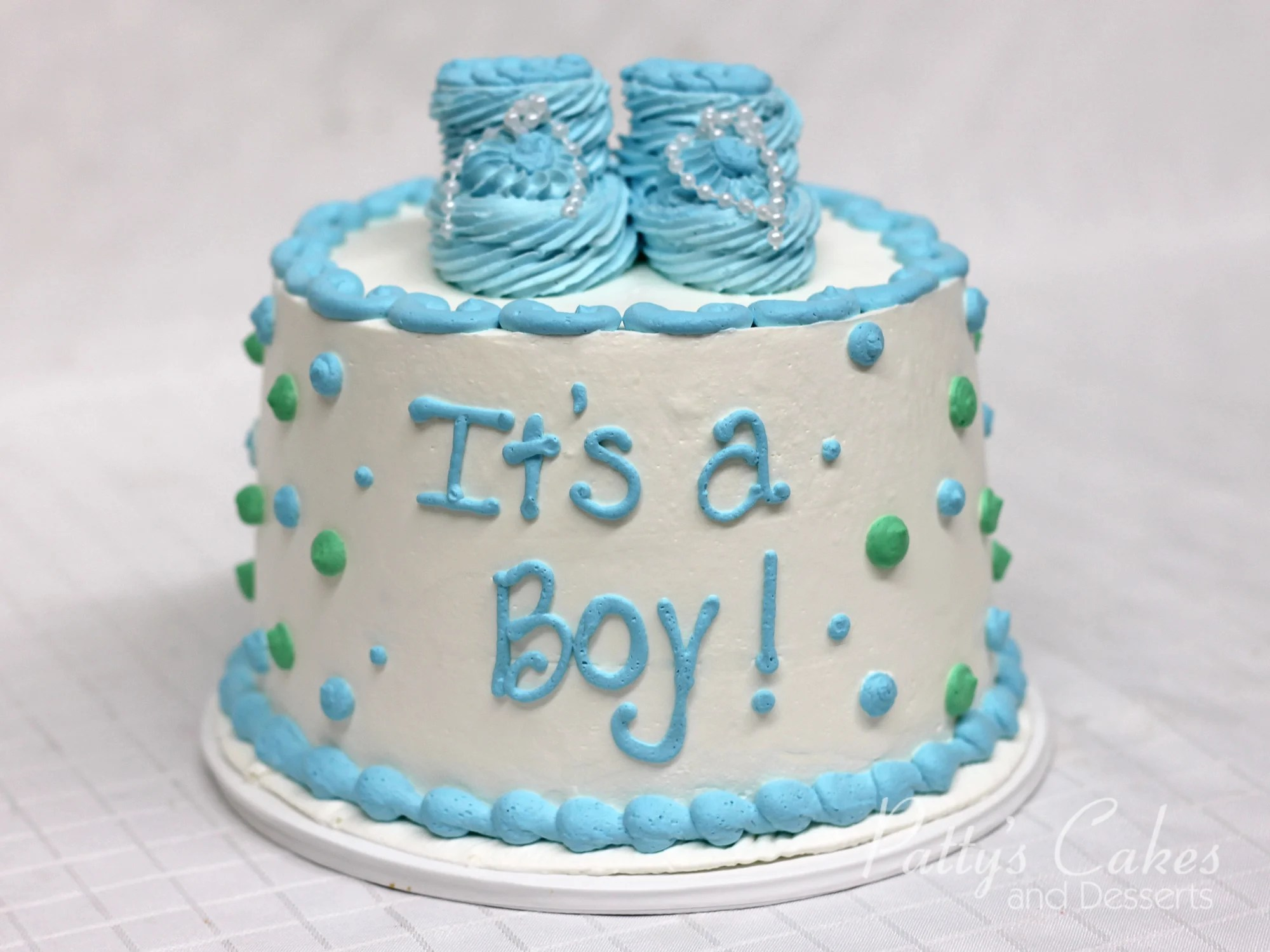 Photo Of A Babyshower Cake Blue Green Round Patty S