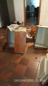 Removing the old cabinets